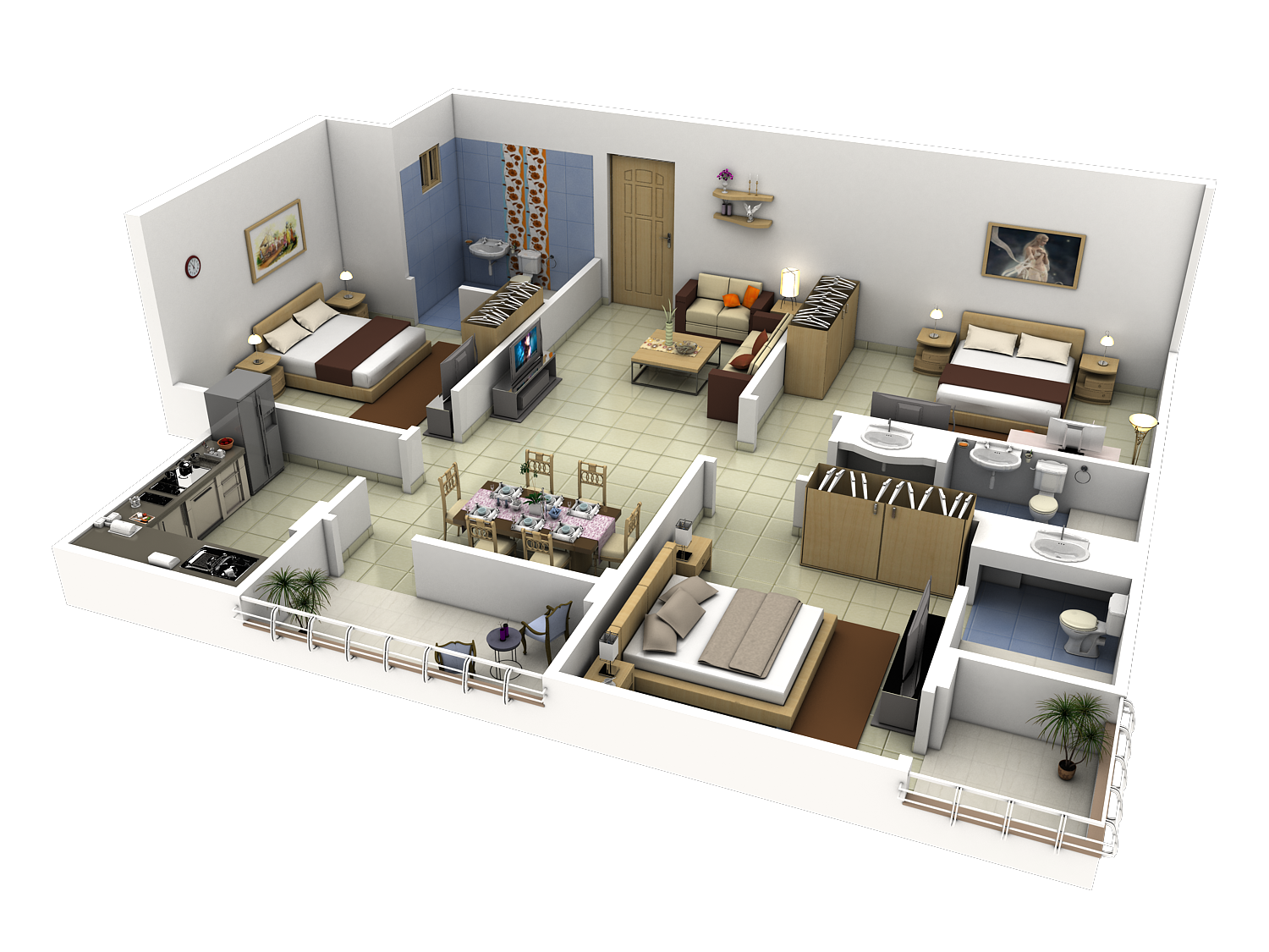 3d interior design malaysia creative realistic 3d House plan drawing 3d
