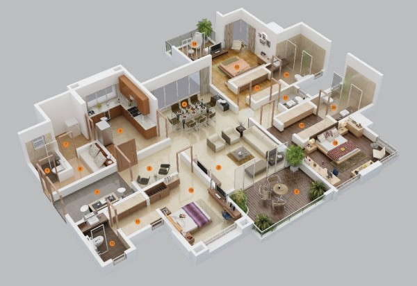 3d-Drawing-Render-3bedroom