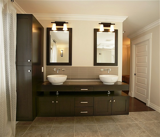 Bathroom Cabinet Modern Dark3